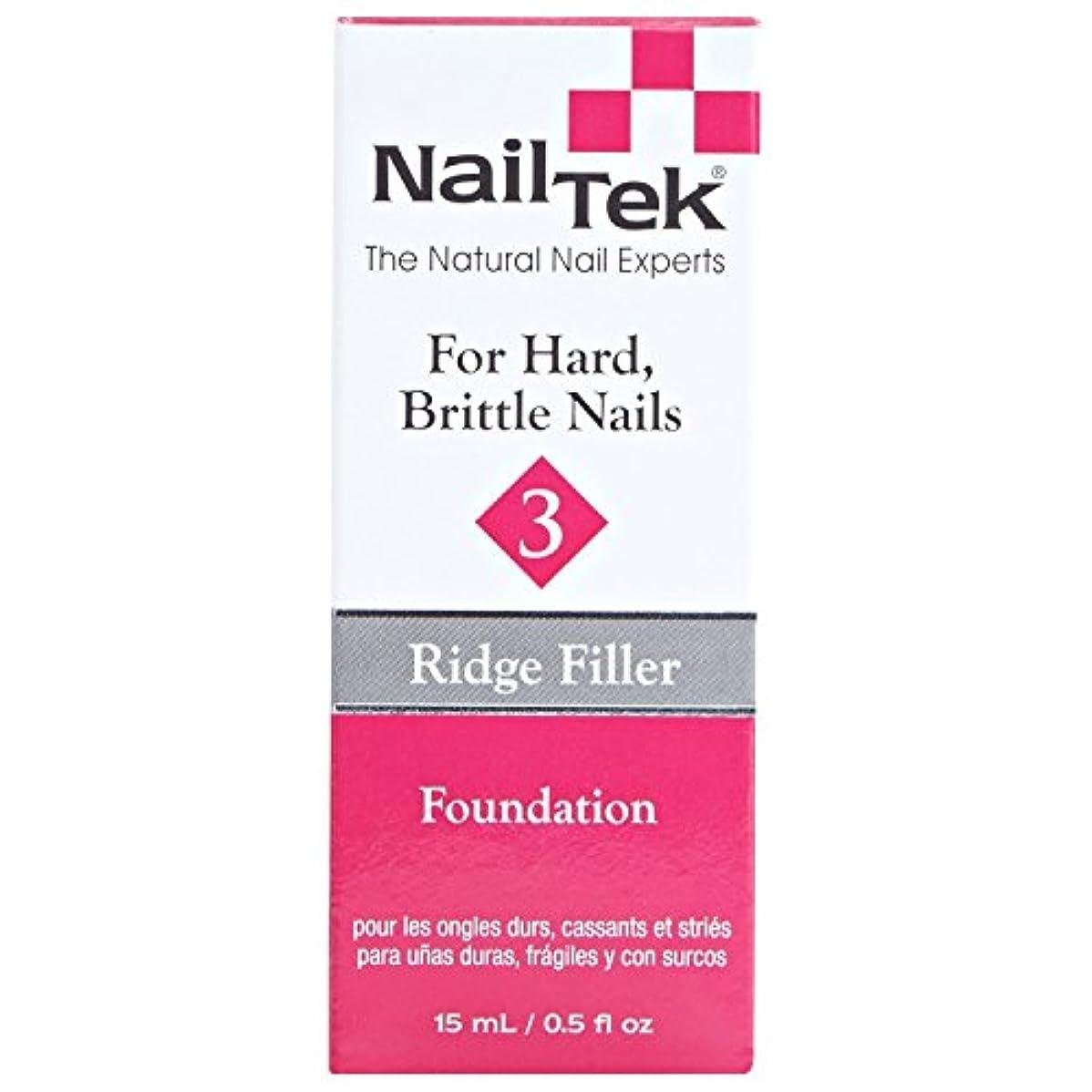 プラットフォーム先クリアNail Tek Treatment - Ridge Filling - Foundation 3-0.5oz / 15ml