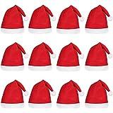Tinkskyサンタ帽子クリスマスハットの大人と子供12pcs