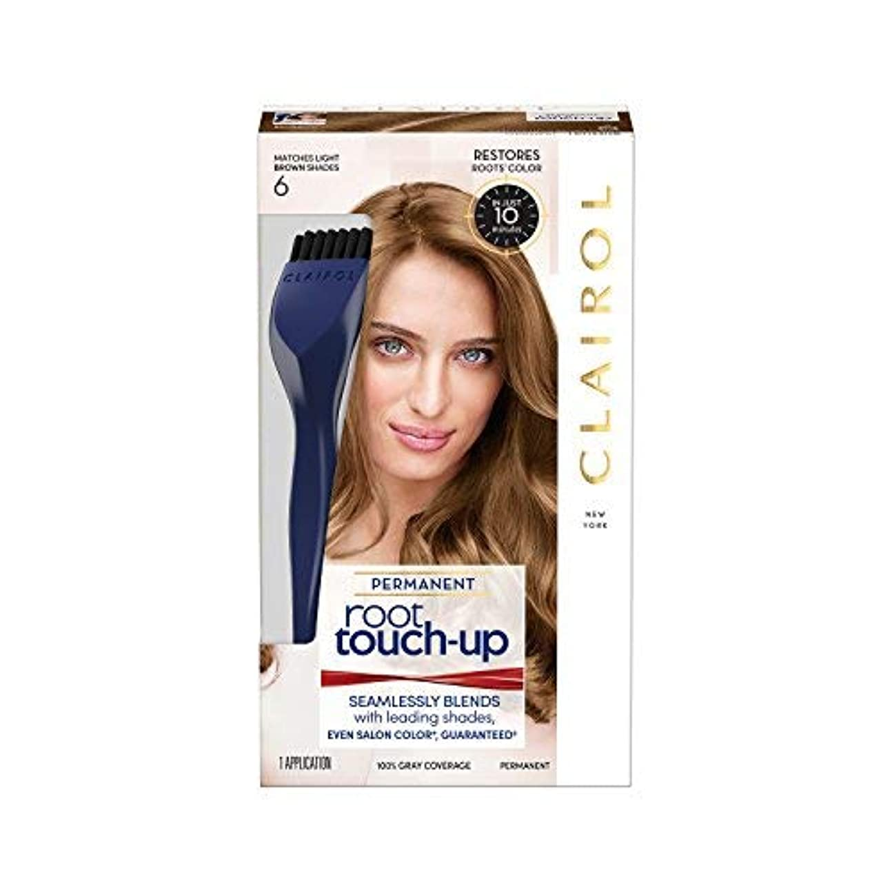 パステル葉っぱ若さ海外直送品 ルートタッチ Root Touch-Up - Just The Brunette Shades 6 自宅で10分?簡単ルートカラー (柔らかなライトブラウン)