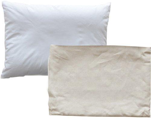 エムール 涼感そばがら枕 近江の麻ピロケース付き 35×50cm 日本製 無地カバー