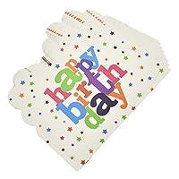 Hongma 招待状 10枚セット 子供 誕生日 インビテーション パーティー アクセサリー HAPPY BIRTHDAY バルーン 刻印 学校 学生用品 全5色
