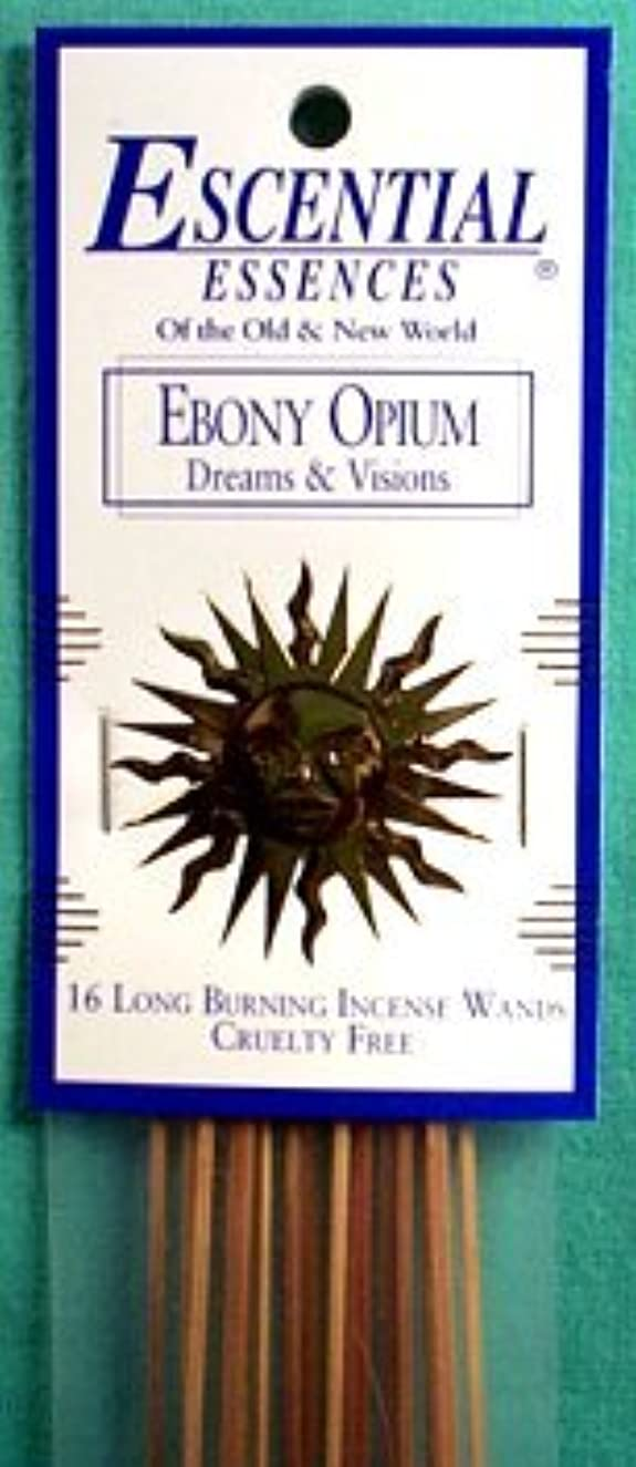 物語ぬれたサポートエボニーOpium Escential Essences Incense Sticks