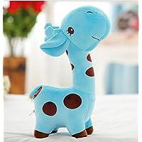 HuaQingPiJu-JP 20cm背の高いキリンディアー柔らかいぬいぐるみ動物の人形赤ちゃんの誕生日パーティーおもちゃのギフト(青)
