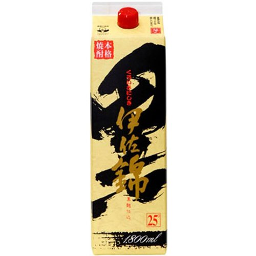 大口酒造 黒伊佐錦 芋 25度 パック 1800ml  [鹿児島県]