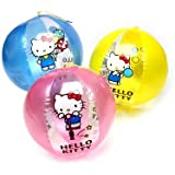 サンリオ かわいい キティちゃん ビーチボール 直径25(単位:センチ) (ブルー)