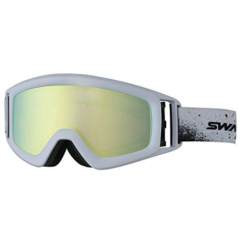 SWANS(スワンズ)スノーゴーグル メガネ装着対応 ヘルメット対応 ミラー加工偏光レンズ HELI-MPDH MAWマットホワイト F