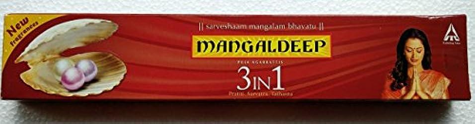 和らげる滑りやすいランクMangaldeep 3 In 1供養Agarbattis 15 Incense Sticks