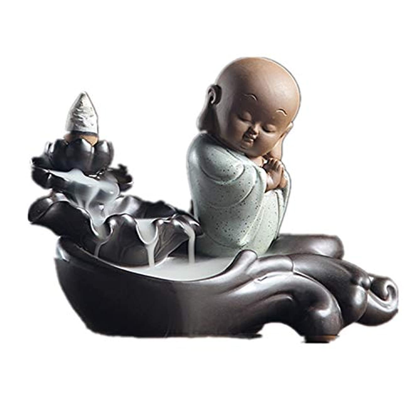 マグ一緒に市長XPPXPP Backflow Incense Burner, Household Ceramic Returning Cone-shaped Candlestick Burner