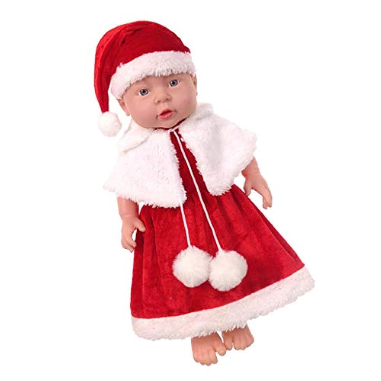 Baoblaze 新生児女の子人形 シミュレーション リボーンドール 幼児人形 クリスマスドレス