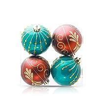 クリスマスギフトデコレーションボールクリスマスツリーのペンダントクリスマスラグジュアリークリスマスボールの飾り8センチメートルシルバーパステルボールクリスマスツリーウィンドウの装飾チャームペンダント (色 : 緑)