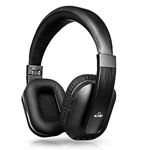 iDeaUSA Bluetoothヘッドホン ワイヤレスヘッドホン Apt-X搭載 高音質 ハンズフリー通話 マイク付き USB 折畳み型 黒色