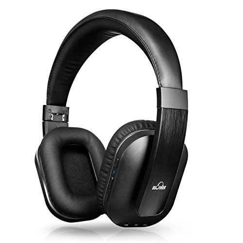 iDeaUSA Bluetoothヘッドホン ワイヤレスヘッドホン/Apt-X搭載/高音質/ハンズフリー通話/アジャスター/マイク付き/USB/オーバータイプ/折畳み型 黒色