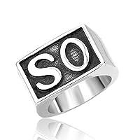 PW 精良SUS316L製 シルバー銀色 サンズ オブ アナーキー SO NS 指輪 【ラッピング対応】