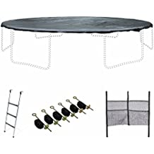 ALICE'S GARDEN KIT Trampoline 16 Foot - Ladder, Protective Cover and Anchor kit