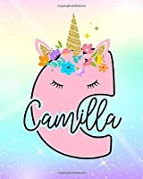 Camilla: Girls Unicorn Journal to Write In | Personalized Journal