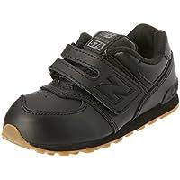 New Balance KL574P Leather Pack Running Shoe (Little Kid), Black