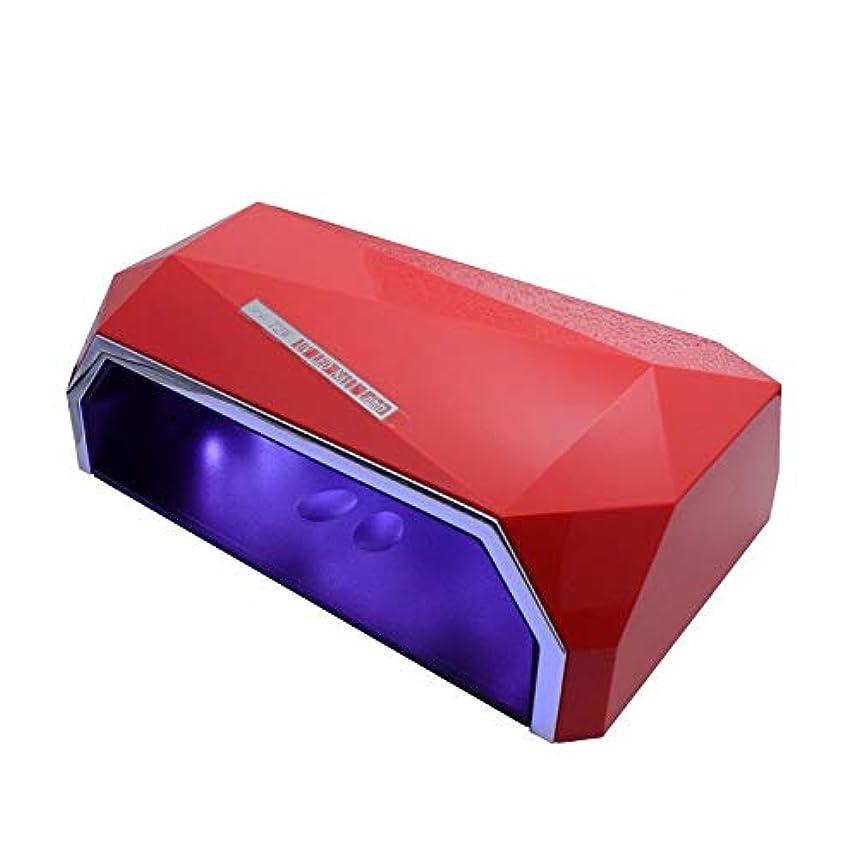 防水抽象魔術RRSHUNネイルドライヤー72wダイヤモンドデュアルUVランプLedネイルランプゲルポリッシュキュアライトネイル用30s / 60sタイマーLcdディスプレイランプ