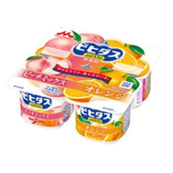 森永 ビヒダスヨーグルト ピーチミックス+オレンジ4ポット 6パック