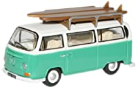 Oxford Die Cast 1: 76スケールVW Bus Withサーフボード柄Birchグリーン/ホワイト