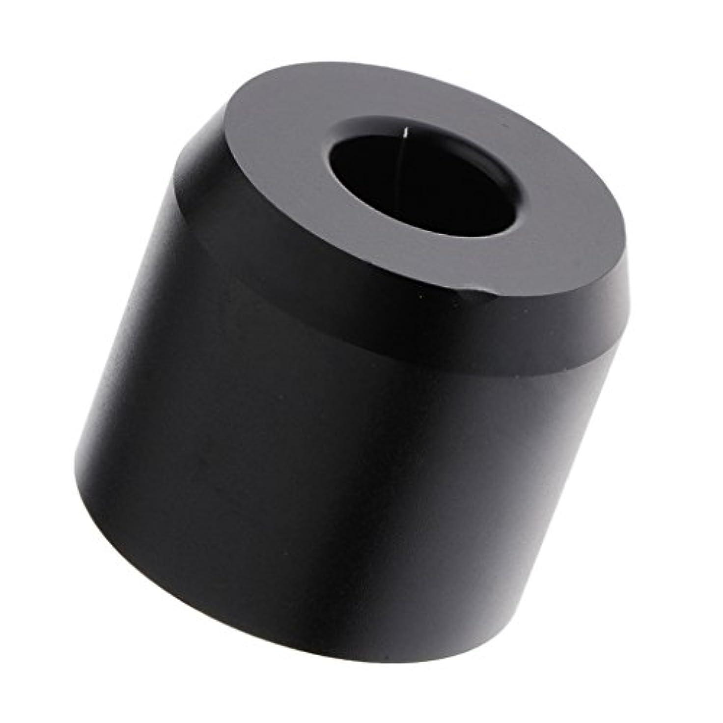 Perfk スタンドベース カミソリベース 髭剃りスタンド シェービングツール 収納ホルダー アルミ 耐久性 ミニサイズ 洗面所 場所節約 2色選べる - ブラック
