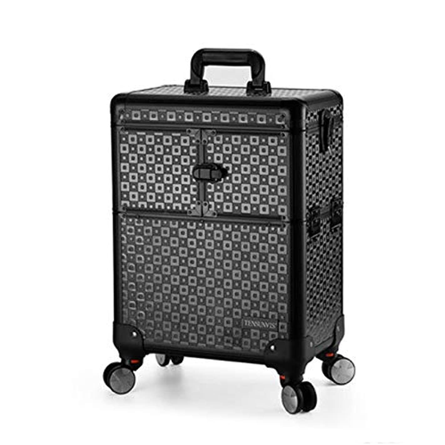 描くポジション暖炉プロ専用 美容師 クローゼット スーツケース メイクボックス キャリーバッグ ヘアメイク プロ 大容量 軽量 高品質 多機能 I-TT-4622-TB-T