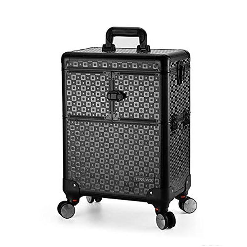 ベアリング見える練るプロ専用 美容師 クローゼット スーツケース メイクボックス キャリーバッグ ヘアメイク プロ 大容量 軽量 高品質 多機能 I-TT-4622-TB-T