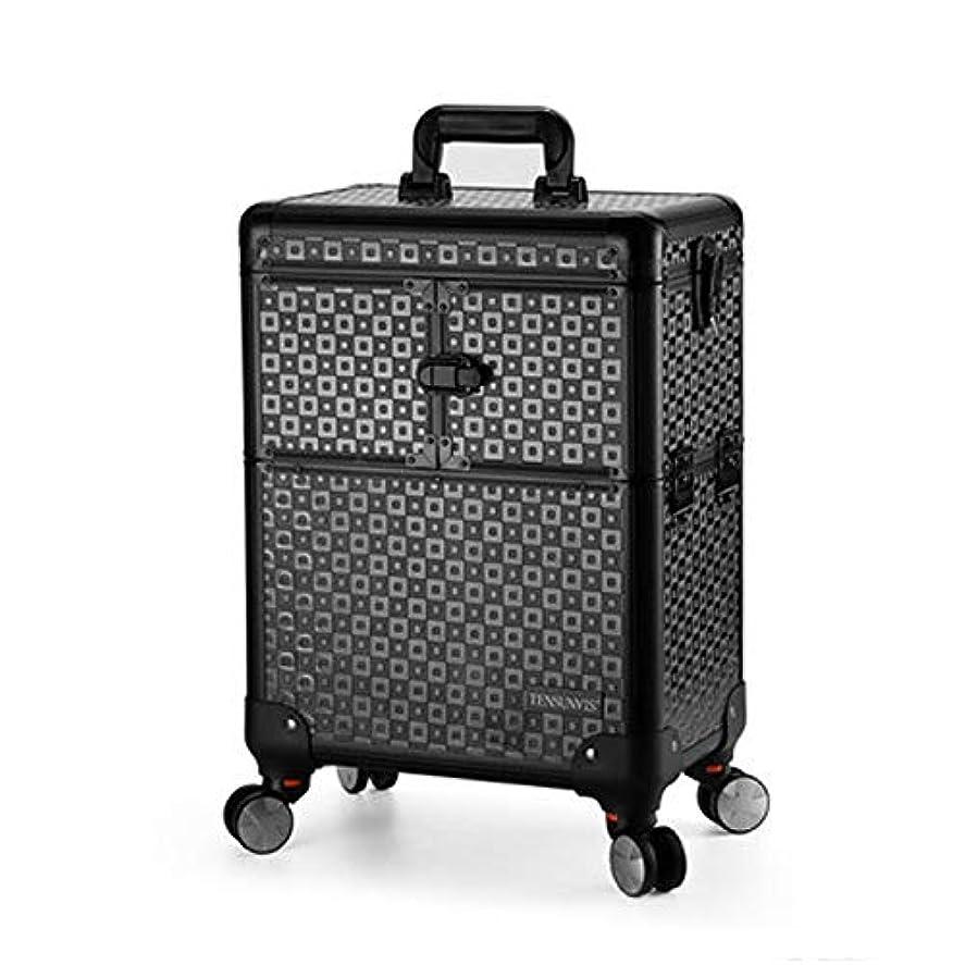 薬を飲む安西特権プロ専用 美容師 クローゼット スーツケース メイクボックス キャリーバッグ ヘアメイク プロ 大容量 軽量 高品質 多機能 I-TT-4622-TB-T