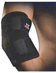 ネオプレン 調節可 肘サポート テニス 関節炎 巻き付け固定具 ジム スポーツ