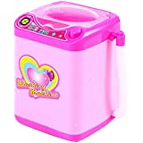 子供のシミュレーション教育玩具かわいい洗濯機のおもちゃ13 * 9 CM - ピンク