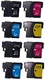 LC11-4PK 4色セットx2 8個セット brother(ブラザー)対応 互換インクカートリッジ 残量表示機能対応