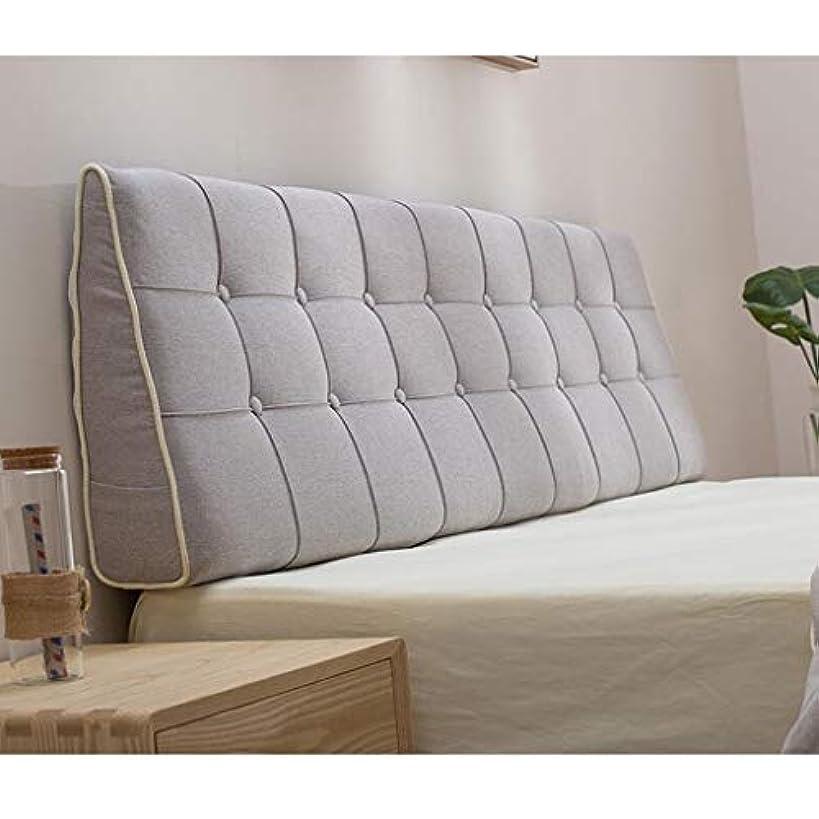管理簡単な国内のベッドサイドのクッション生地は取り外し可能で洗える大きな背もたれ枕ベッド 大きな背もたれ Zsetop (Color : B, Size : 120*50cm)