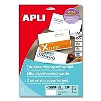 【APLI】■インクジェット・レーザー 名刺カット 10面(AP-01620)