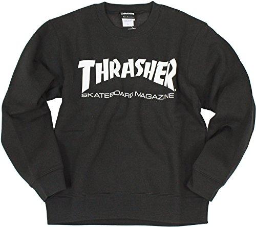 (スラッシャー) THRASHER マグロゴ クルーネック スウェット TH8401 (S, BK:ブラック)