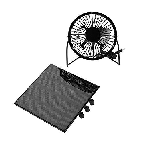 3W 卓上扇風機  6V ポータブル 冷却 ミニファン  屋外 ソーラーパネルファン 家庭換気扇 USB式 防水 便利 旅行 キャンプ サイクリングなど対応