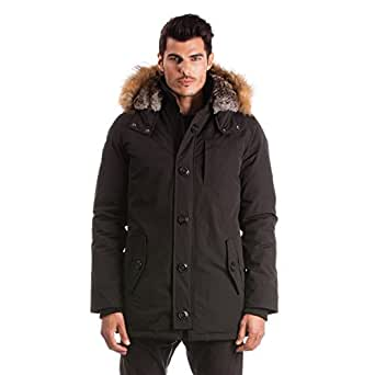Arctic北メンズイエローナイフ冬ジャケット US サイズ: 4L カラー: ブラック