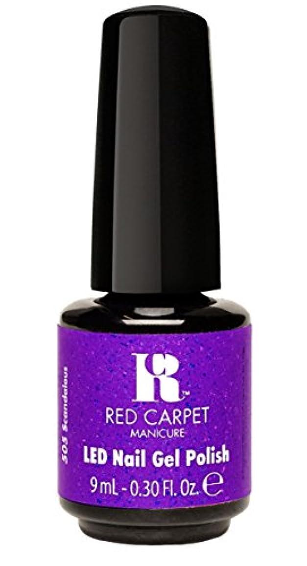 内訳大胆ポーンRed Carpet Manicure - LED Nail Gel Polish - Designer Series - Scandalous - 0.3oz/9ml