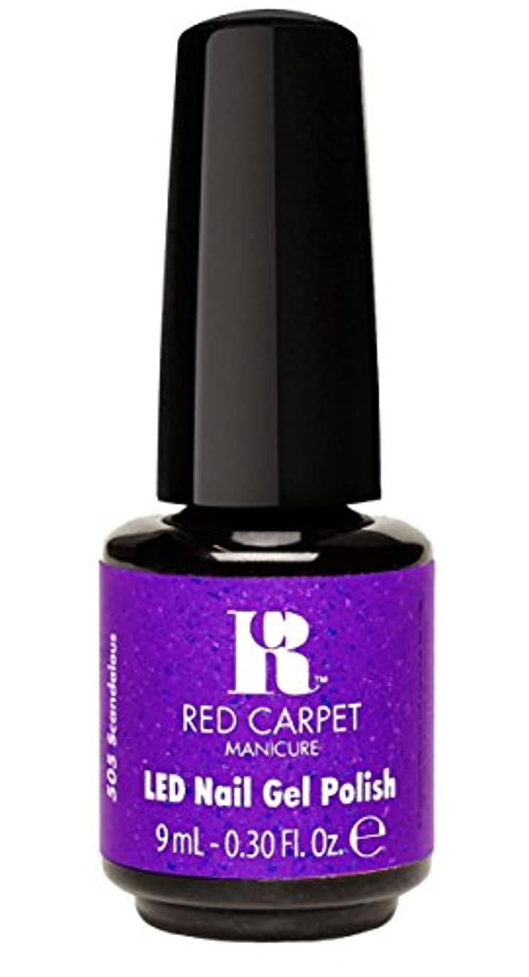 魅力的平和な定刻Red Carpet Manicure - LED Nail Gel Polish - Designer Series - Scandalous - 0.3oz/9ml