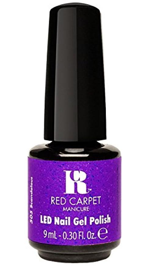 気を散らすどれかトランペットRed Carpet Manicure - LED Nail Gel Polish - Designer Series - Scandalous - 0.3oz/9ml