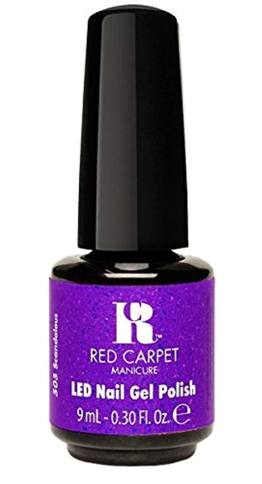おしゃれなデッキモーテルRed Carpet Manicure - LED Nail Gel Polish - Designer Series - Scandalous - 0.3oz/9ml
