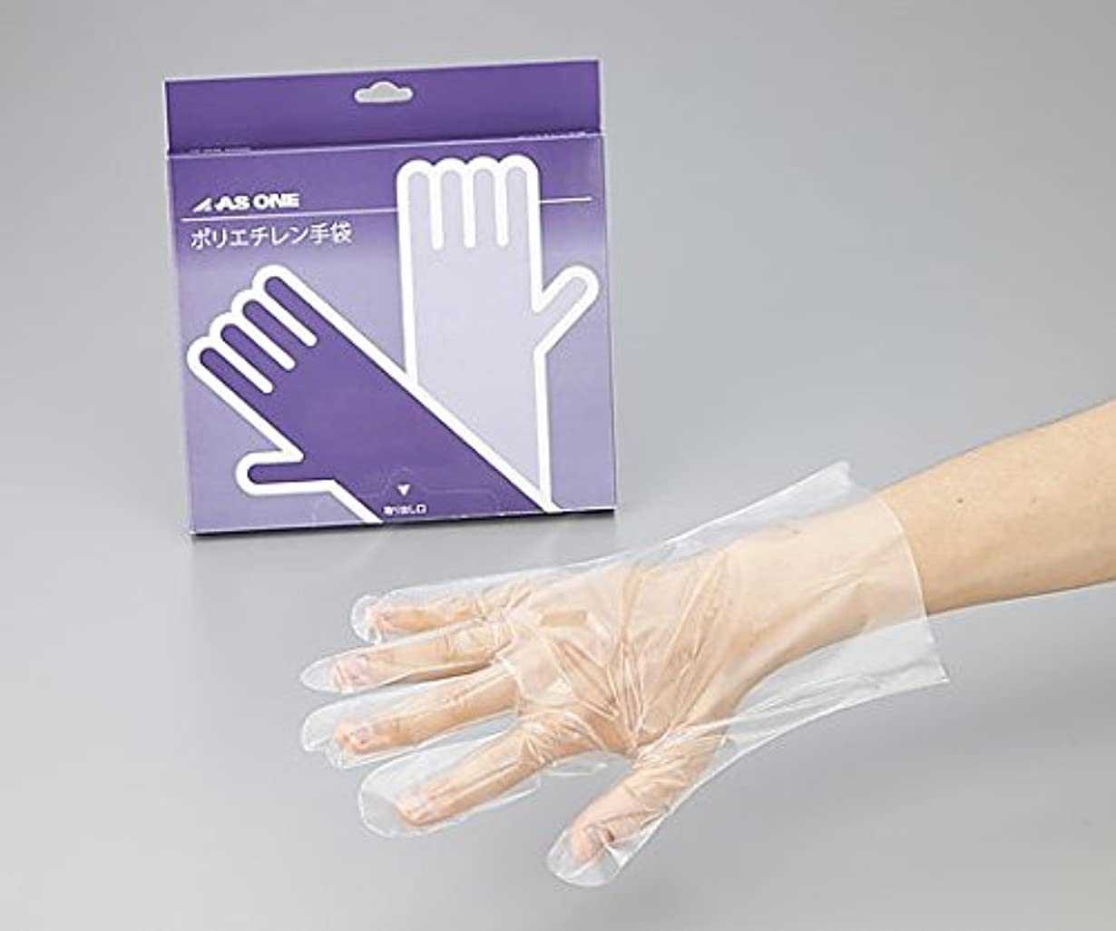 フォーク予防接種チェスをするアズワン2-4975-01ポリエチレン手袋エコノミー薄手外エンボス付L100枚入