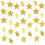 BESTOYARD 4M ゴールド バナー ガーランド 星 スター 誕生日 飾り付け 庭 インテリア デコレーション
