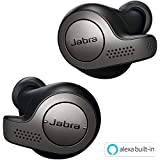 Jabra True Wireless Earbuds Bluetooth in-Ear Headphones with Earphones Charging Case & One-Touch Amazon Alexa & 15 Hours Battery, Titanium Black, (Elite 65t)