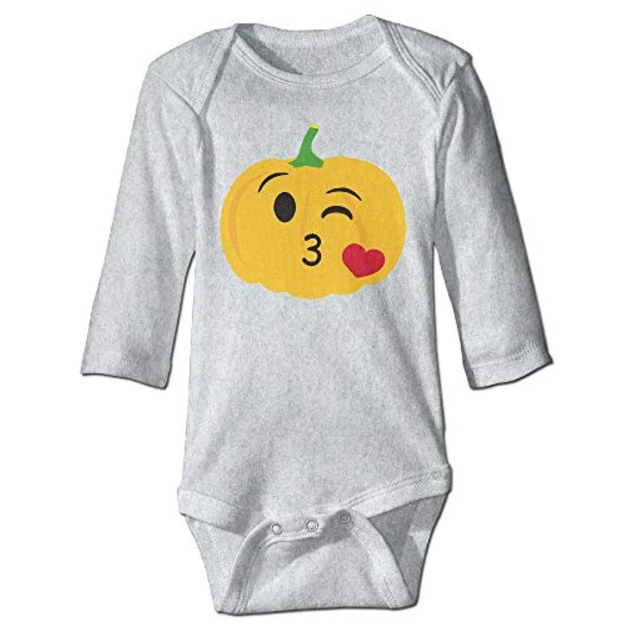 揃える故意の過ち幼児ハロウィンかぼちゃ愛ユニセックス赤ちゃんワンシーボディスーツ長袖サイズ18 M
