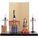 雛人形 一秀 江戸木目込み人形 立雛(2人) 平飾り 書目 吉野雛 幅35cm [i-32-h96] 伝統的工芸産業品 ひな祭り