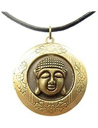 ブロンズBuddhaロケットネックレスヨガ、ジュエリー、Buddhistネックレス – Buddhaジュエリー、禅、ヨガ、Buddhistジュエリー