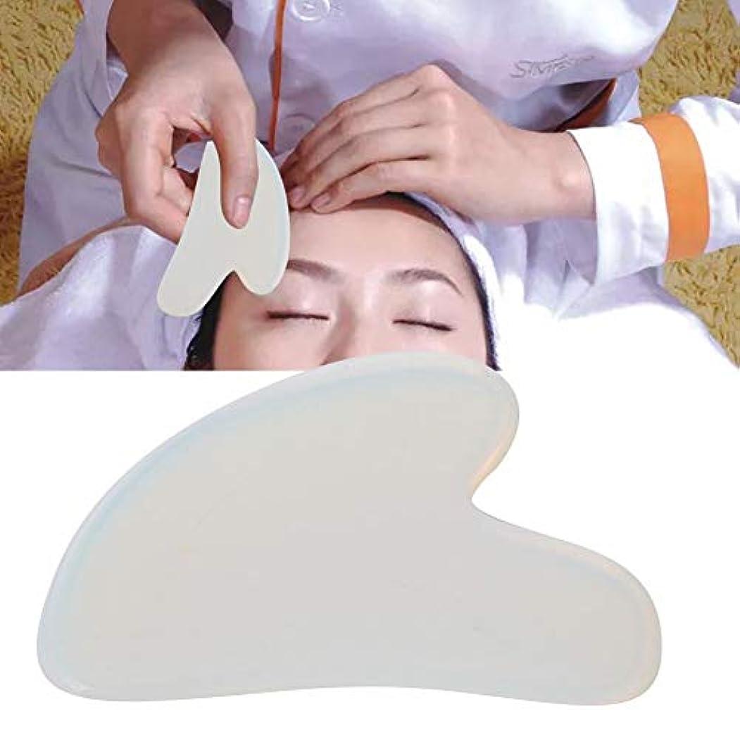 然とした密ミルGua Sha Board for Pain Relief、Natural Opal Scrapping Plate Body Guasha Board Face Massager Health Care Tool