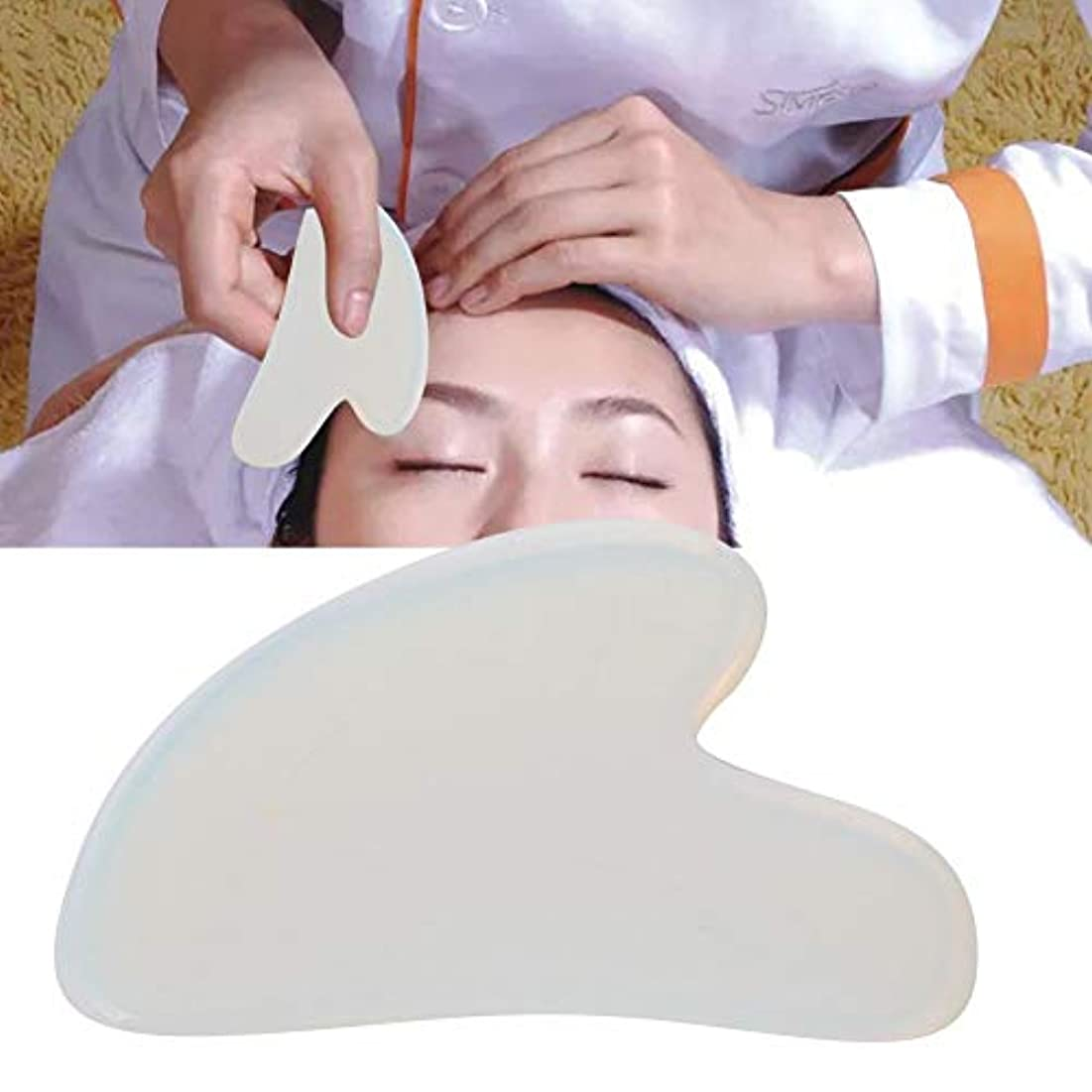 胆嚢告白治すGua Sha Board for Pain Relief、Natural Opal Scrapping Plate Body Guasha Board Face Massager Health Care Tool