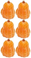 Biedermann & Sons C1592 Orange Pumpkin Gourd Candle, Pack of 6