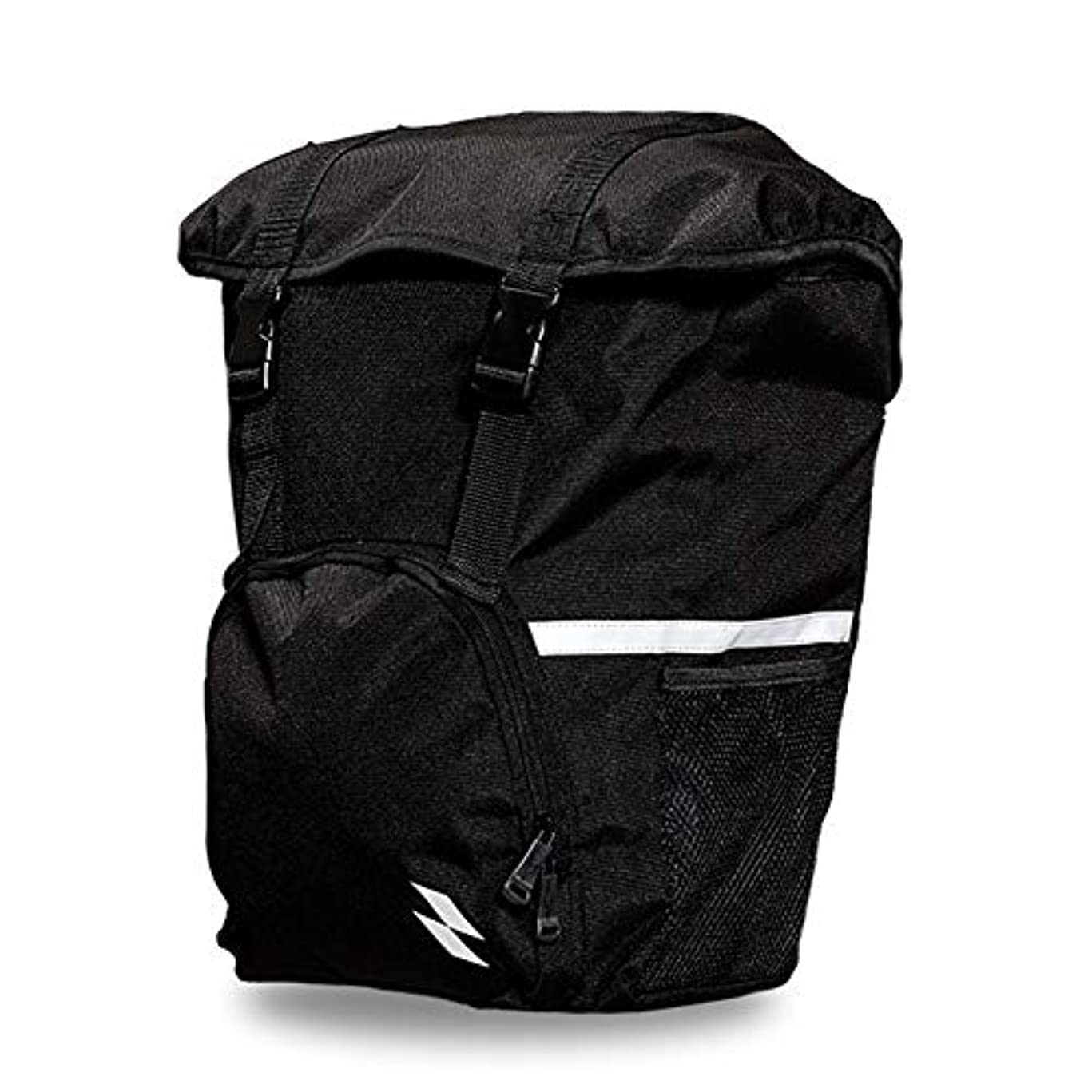クリケット周波数通訳自転車後部座席バッグ、ウェアラブル棚バッグ片側乗馬大容量収納袋