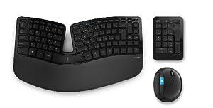 マイクロソフトワイヤレス人間工学デザインキーボード+マウスSculpt Ergonomic Desktop L5V-00023